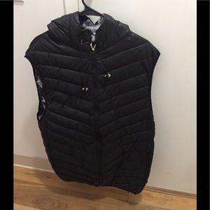 Winchester hooded Puffer headphone black vest 2XL
